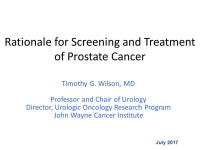 Prostate Cancer: Guidelines for Diagnosis and Treatment  (Rx = .5 hr.)
