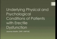 Underlying Physical and Psychological Conditions of  Patients Suffering from Erectile Dysfunction (Rx = .25 hr.)