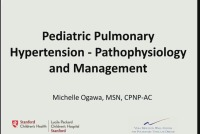 Pediatric Pulmonary Hypertension: Pathophysiology and Management (Rx = .5 hr.)