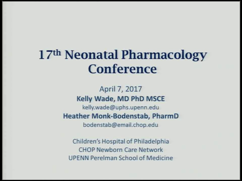 What's New in Neonatal Pharmacology and Medication Use in