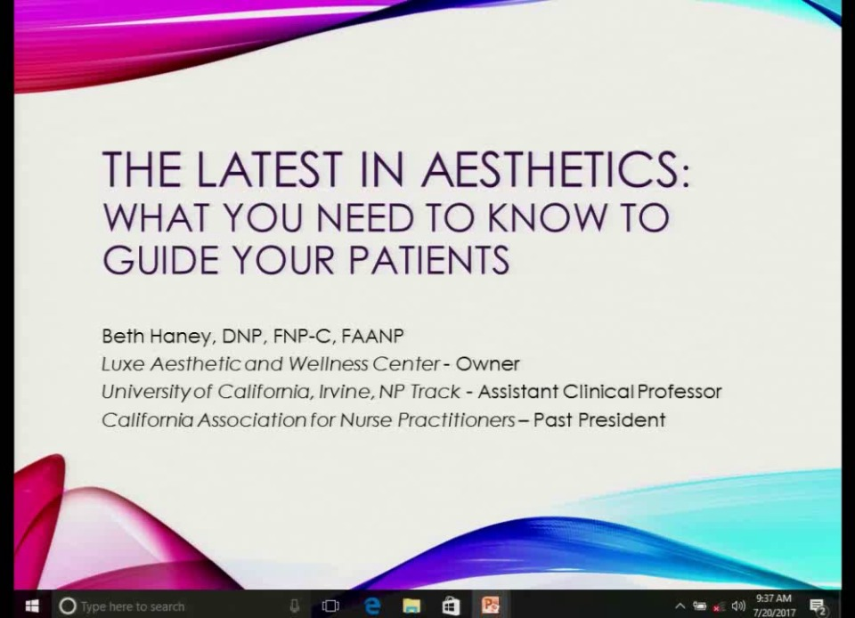32 Updates in Aesthetics: Newest Trends in Cosmetic Dermatology (Rx