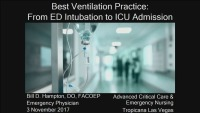 #51 Best Ventilation Practices: From Intubation to Admission