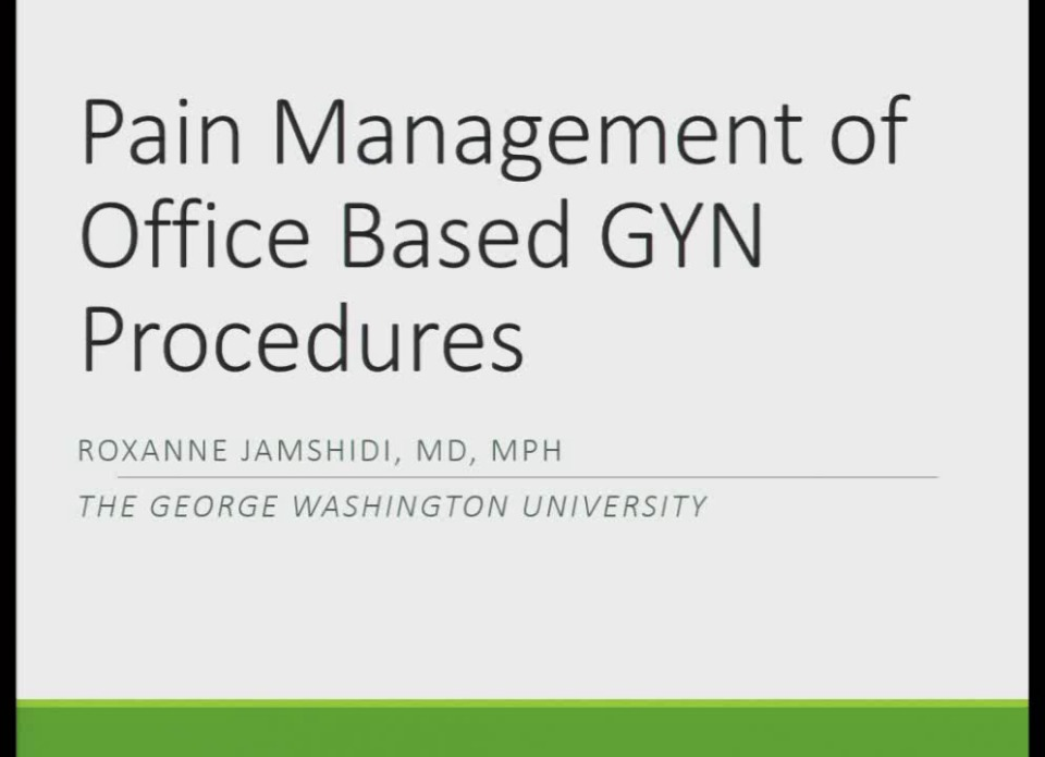 42 Pain Relief for Office GYN Procedures (Rx =  5 hr )