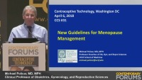What's New in the 2017 NAMS Menopause Treatment Guidelines (RX= 1 hour)