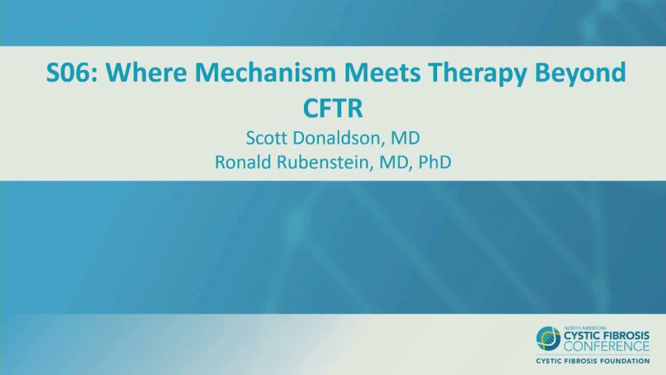 S06--NT-APP&D: Where Mechanism Meets Therapy Beyond CFTR