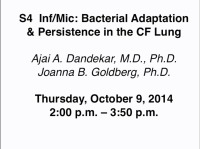 S04: INF/MIC: Bacterial Adaptation & Persistence in the CF Lung