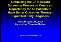SC01: CLIN: Optimizing CF Newborn Screening & Care of Infants With CF & CRMS