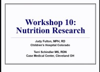 W10: NTR: Nutrition Research