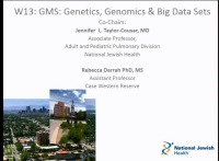 W13: GMS:  Genetics, Genomics & Big Data Sets
