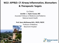 W22: APP&D:  CF Airway Inflammation, Biomarkers & Therapeutic Targets