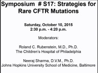 S17: NT: Strategies for Rare CFTR Mutations