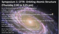 S01: CFTR: Orbiting the Atomic Structure