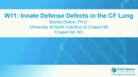 W11: APP&D: Innate Defense Defects in the CF Lung