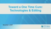 W12: CFTR: Toward a One Time Cure: Technologies & Editing