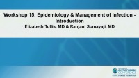 W15: INF/MIC: Epidemiology & Management of Infection