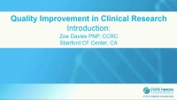 W25: CLIN: Quality Improvement in Clinical Research