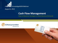 Cash Flow Management: How to Maximize Strategies to Meet Business Demands