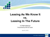 Leasing as We Know It vs. Leasing in the Future