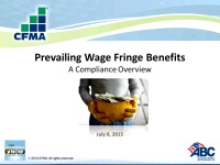 Prevailing Wage Fringe Benefits: A Compliance Overview