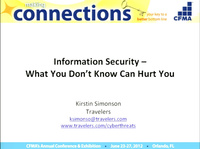 Information Security - What You Don't Know Can Hurt You