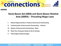 Government Contracting & Prevailing Wage Requirements