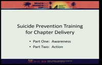 The Next Frontier in Safety/Culture: Addressing the Suicide Epidemic