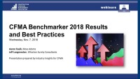 CFMA's 2018 Benchmarker & Financial Survey Results