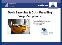 Davis Bacon Ins and Outs – Prevailing Wage Compliance