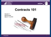 Contracts 101 - Day 1