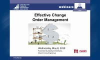 Effective Change Order Management