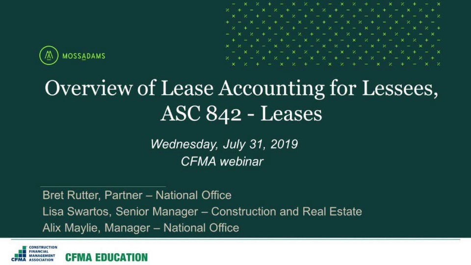 New Lease Accounting from a Lessee's Perspective – Find out What You Need to Know