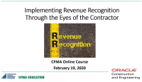 Revenue Recognition Through the Eyes of a Contractor - Day 1