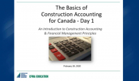 Basics of Construction Accounting for Canada - Day 1