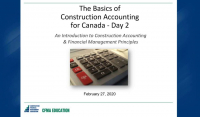 Basics of Construction Accounting for Canada - Day 2