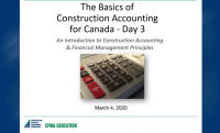 Basics of Construction Accounting for Canada - Day 3