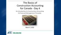 Basics of Construction Accounting for Canada - Day 4