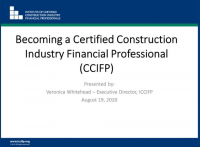 Find Your Path to become a Certified Construction Industry Financial Professional (CCIFP)