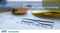 Expand Your Construction Contract Knowledge -Day 1
