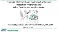 Financial Statement and Tax Impact of PPP Loans: What the Contractor Needs to Know