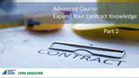 Expand Your Construction Contract Knowledge - Day 2