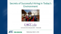 Secrets to Successful Hiring in Today's Environment