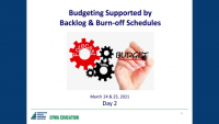 Construction Enterprise Budgets Supported by Backlog & Burn-off Schedules - Day 2