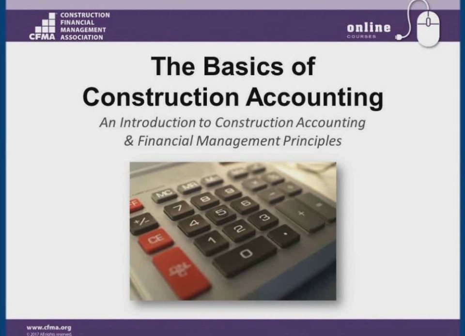 The Basics of Construction Accounting Day 1