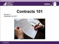 Contracts 101 - Session 2