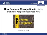 New Revenue Recognition Is Here: Start Your Adoption Readiness Now