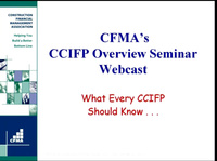 CCIFP Overview Seminar: Day 1