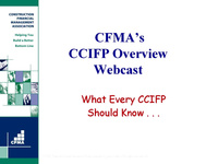 CCIFP Overview - Day 1