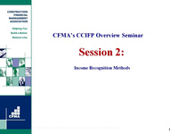 CCIFP Overview - Day 2
