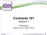 Contracts 101 - Day 1  (Rebroadcast)