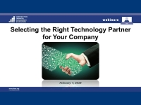 Selecting the Right Technology Partner for Your Company